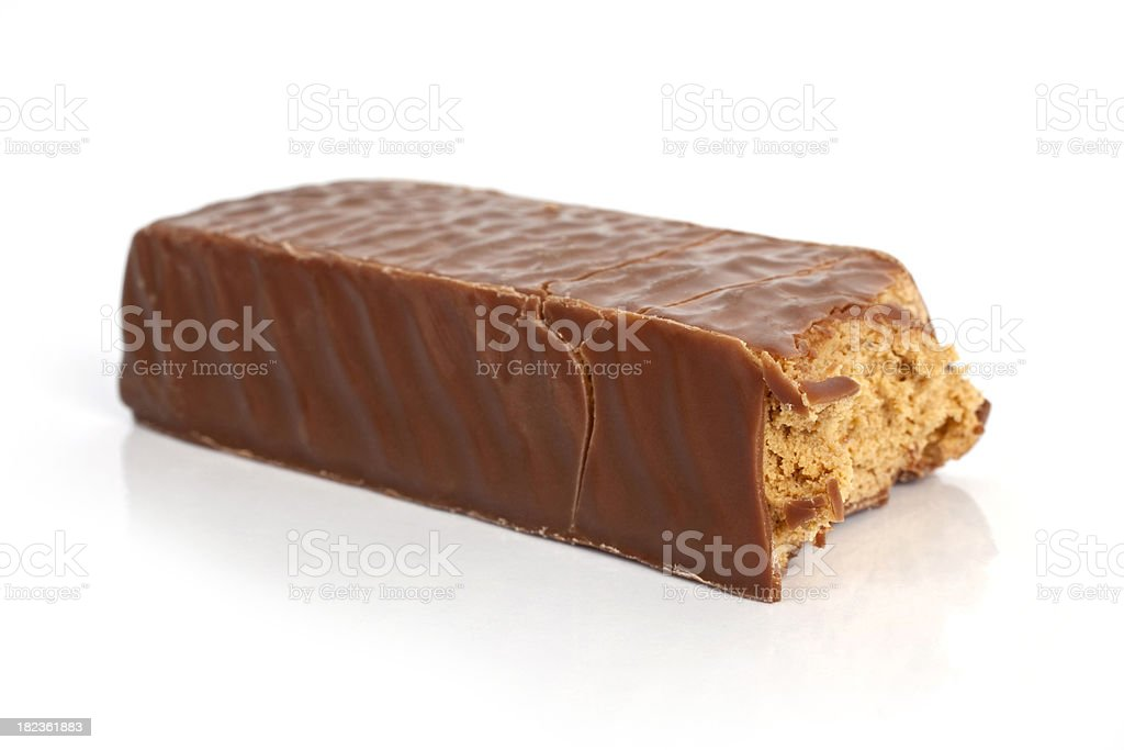 Chocolate Protein Bar stock photo