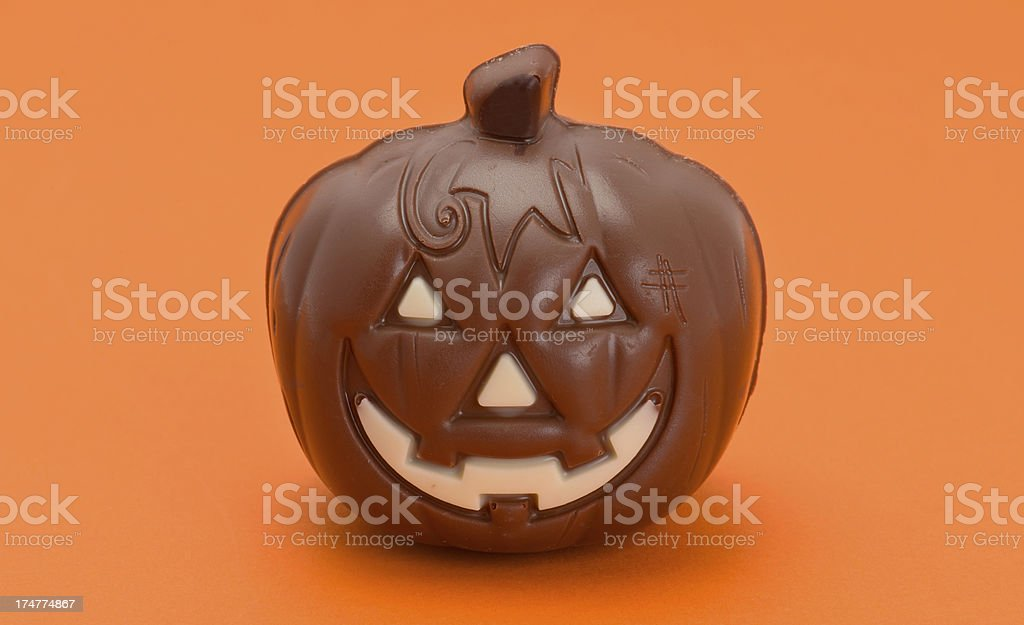 Chocolate pumpkin royalty-free stock photo
