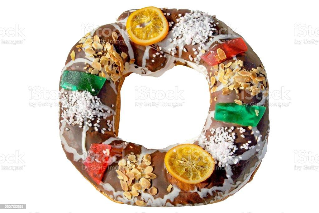 Roscon de choklad royaltyfri bildbanksbilder