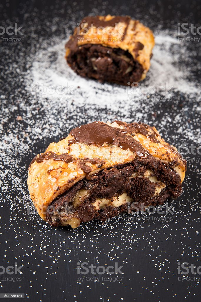 Chocolate Rugelach stock photo