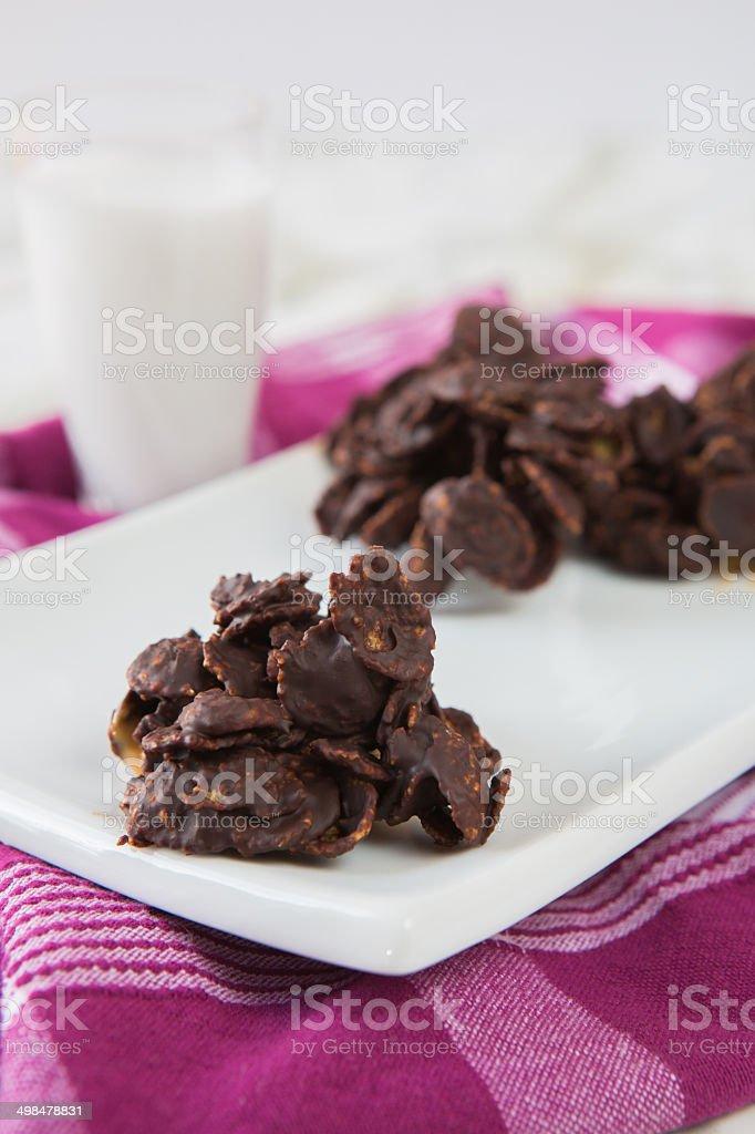 chocolate sand rose stock photo