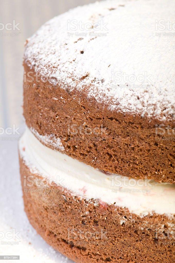 Sandwich Gâteau au chocolat photo libre de droits