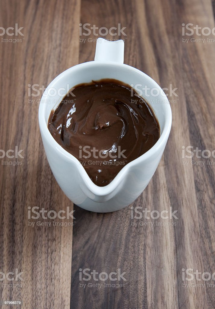 Calda de chocolate foto royalty-free