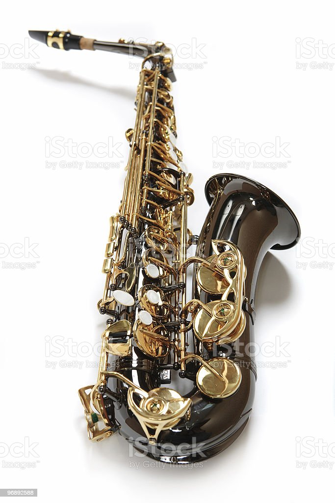 Chocolate saxophone royalty-free stock photo