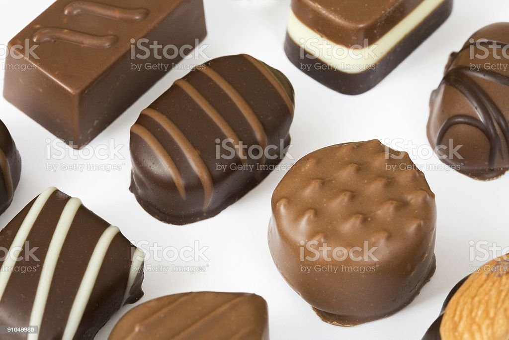 Chocolate selection royalty-free stock photo