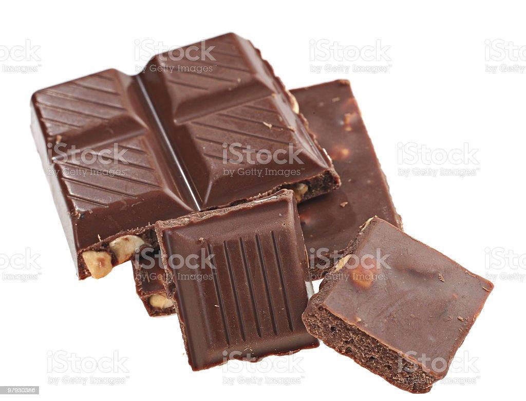 Chocolate slice royalty-free stock photo