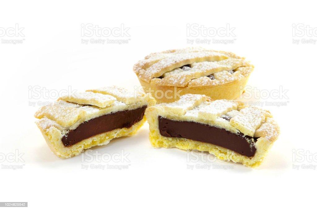 Chocolate small tart - fotografia de stock
