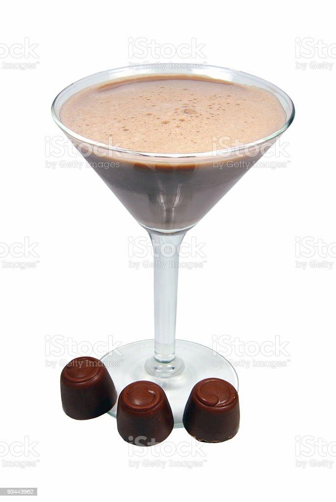 Schokoladen-Smoothie Lizenzfreies stock-foto