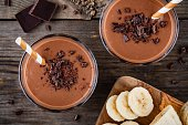 istock Chocolate smoothie with banana 659293864