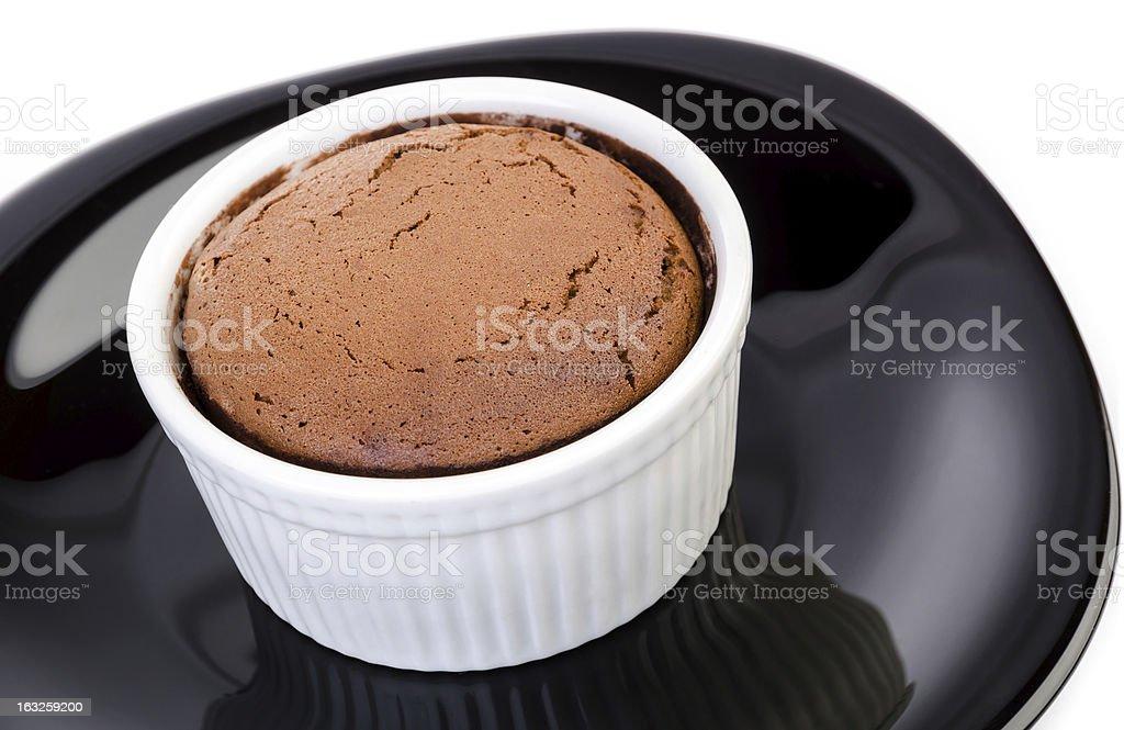 Chocolate souffle royalty-free stock photo
