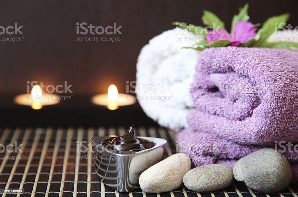 Chocolate spa royalty-free stock photo