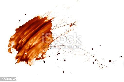 chocolate splash drop liquid mucky white background