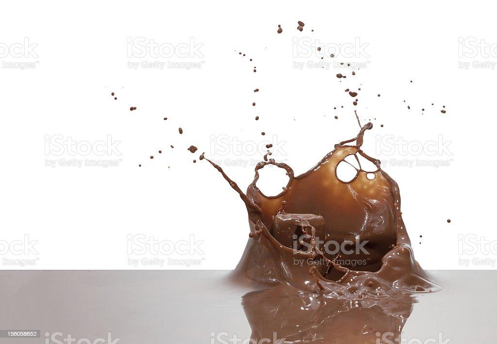 chocolate splash royalty-free stock photo