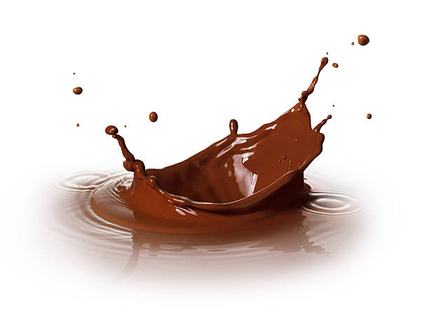 chocolate splashing chocolate drink splashing with ripple and reflection chocolate milk stock pictures, royalty-free photos & images