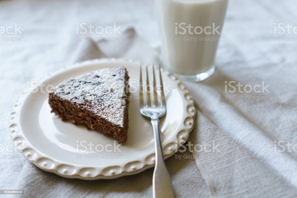 Chocolate Spongecake stock photo