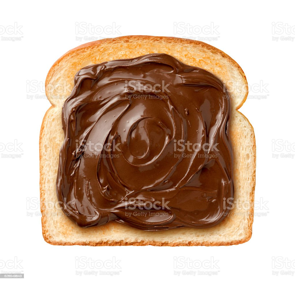Chocolate Spread on Toast stock photo