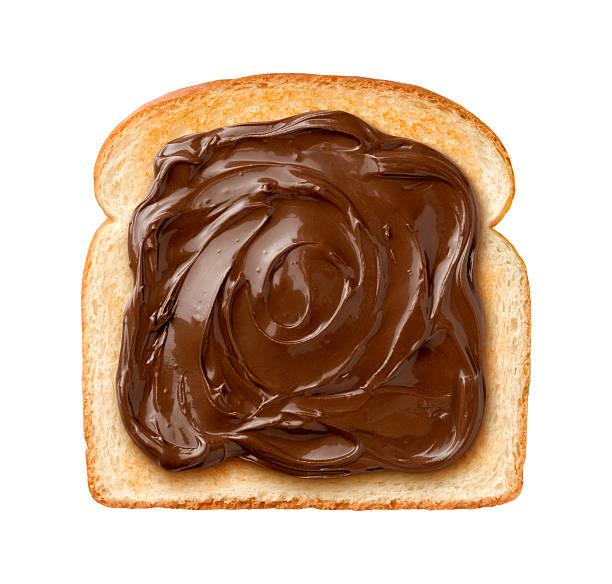 Chocolate Spread on Toast stock photo