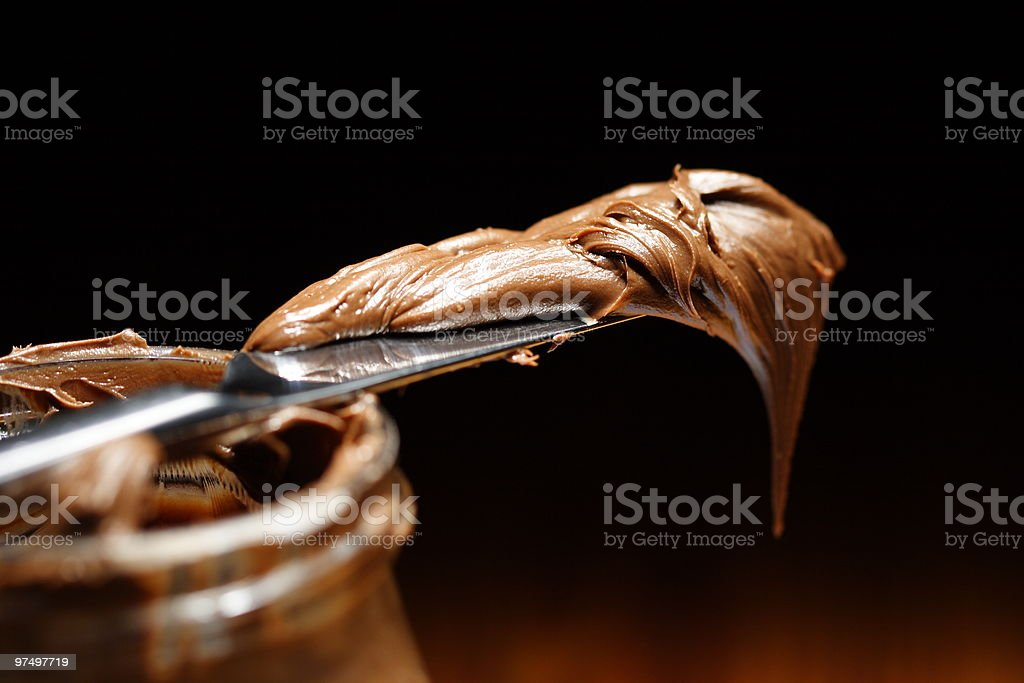 chocolate spread royalty-free stock photo
