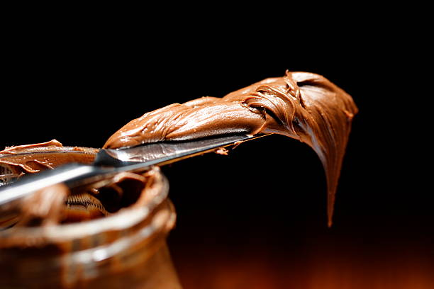 Pasta de chocolate - foto de acervo