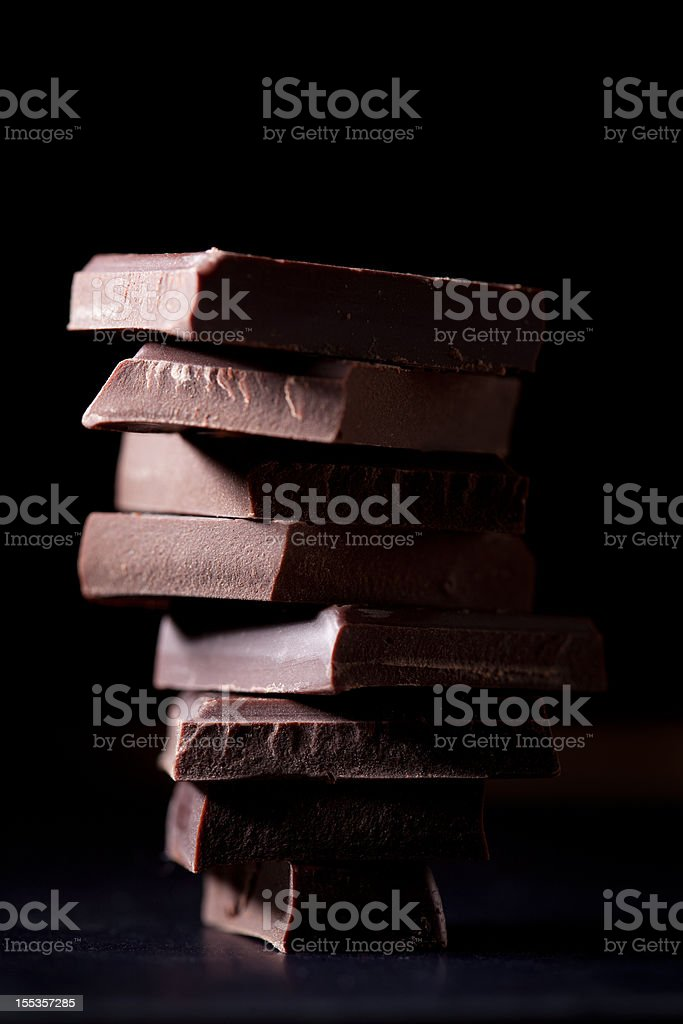 chocolate stack stock photo