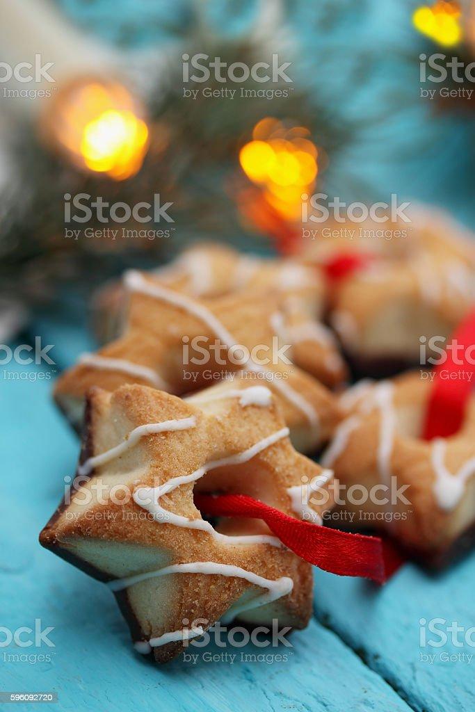 Chocolate  Stars with ribbon Lizenzfreies stock-foto