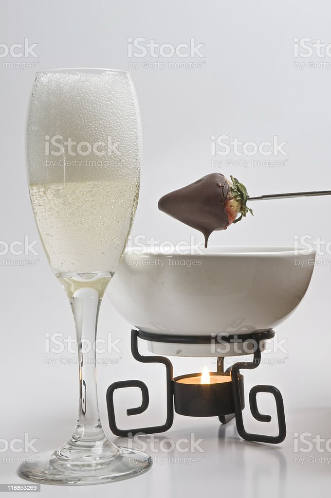 chocolate strawberry - Royalty-free Alcohol - Drink Stock Photo