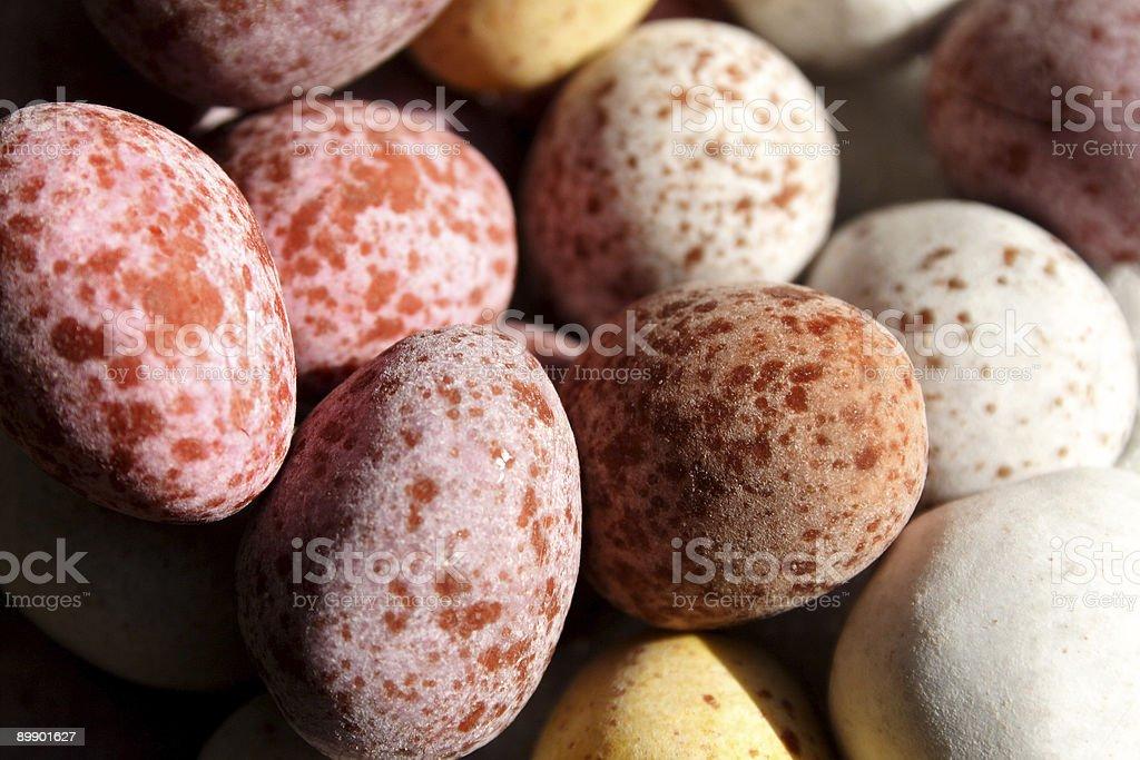 Chocolate Sugar coated eggs royalty-free stock photo