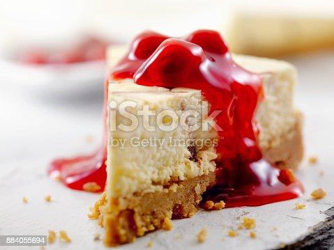 Chocolate Swirl Cheesecake with Cherry Topping