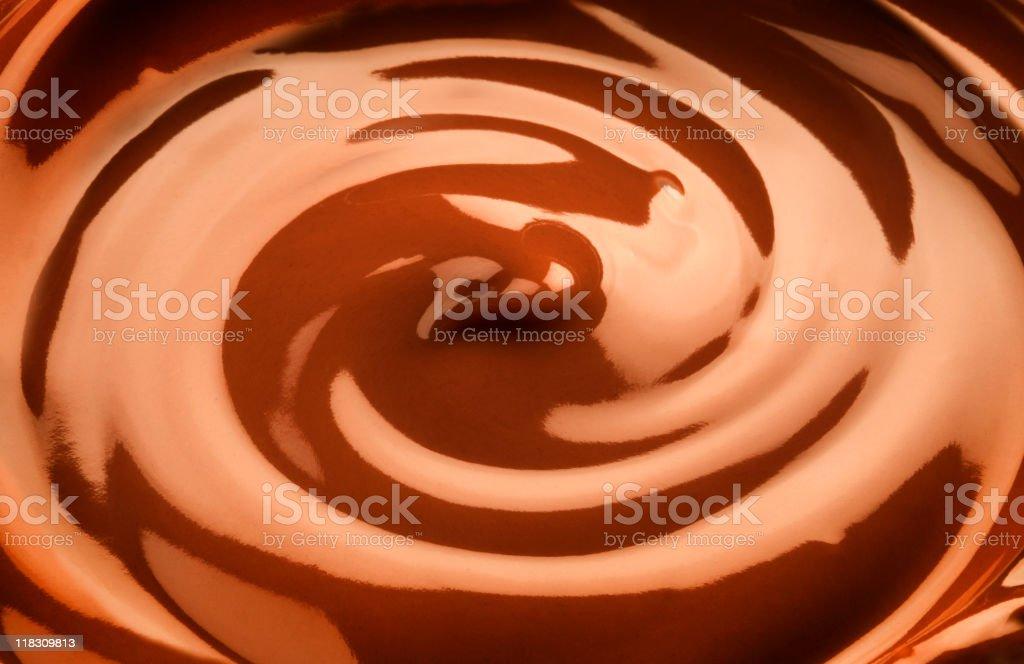 Chocolate swirl royalty-free stock photo