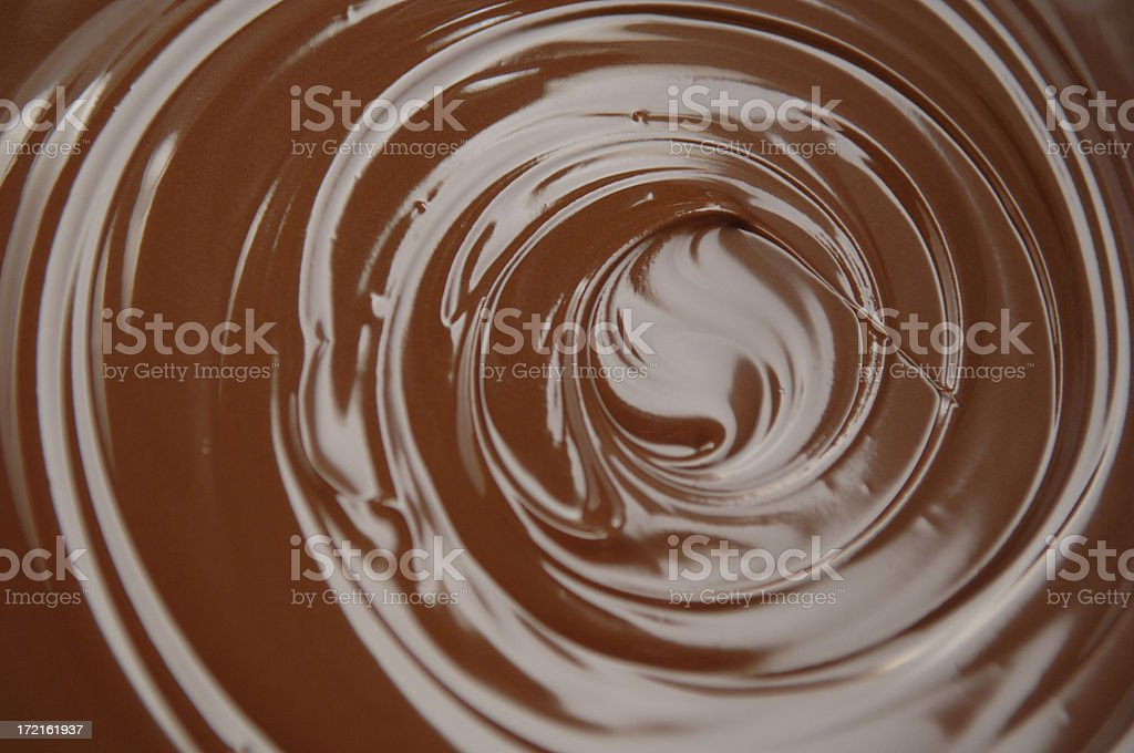 Chocolate Swirl stock photo