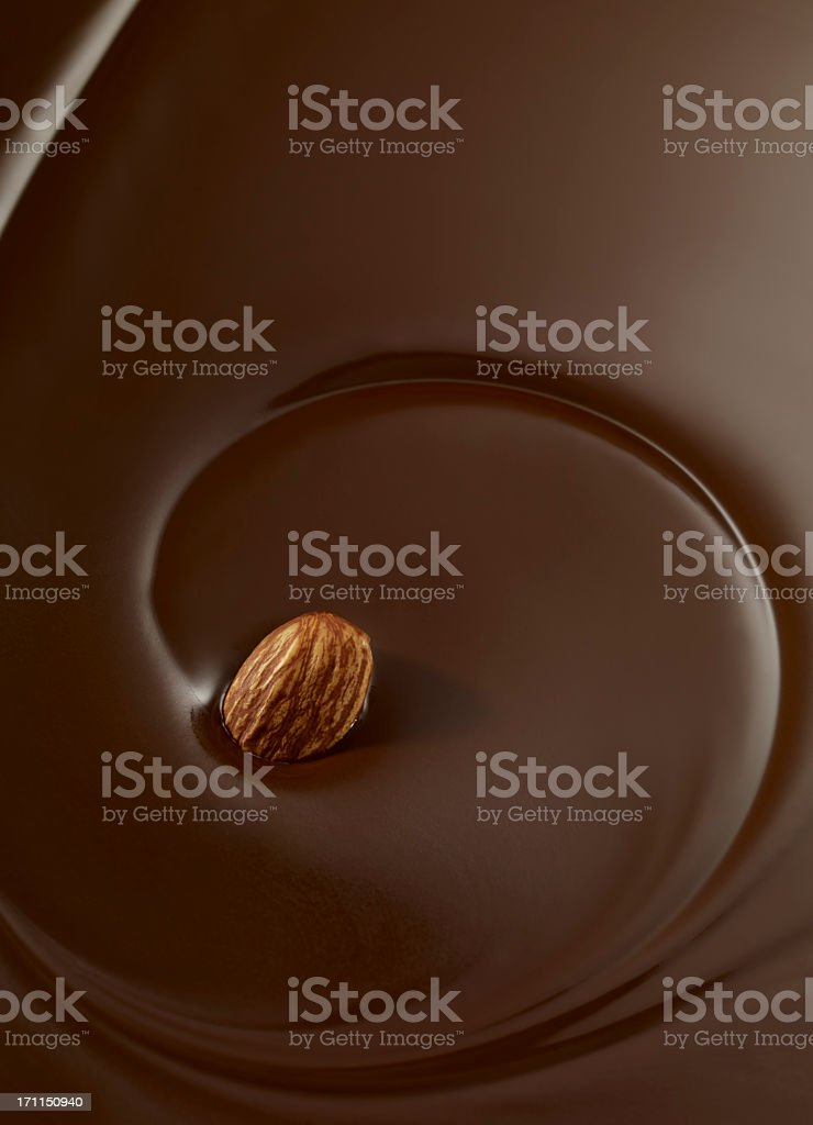 Chocolate Swirl With Almond stock photo