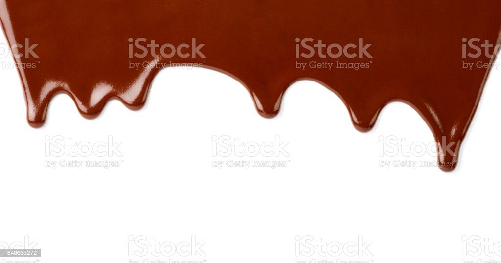 chocolate syrup dessert food sweet leaking drop stock photo