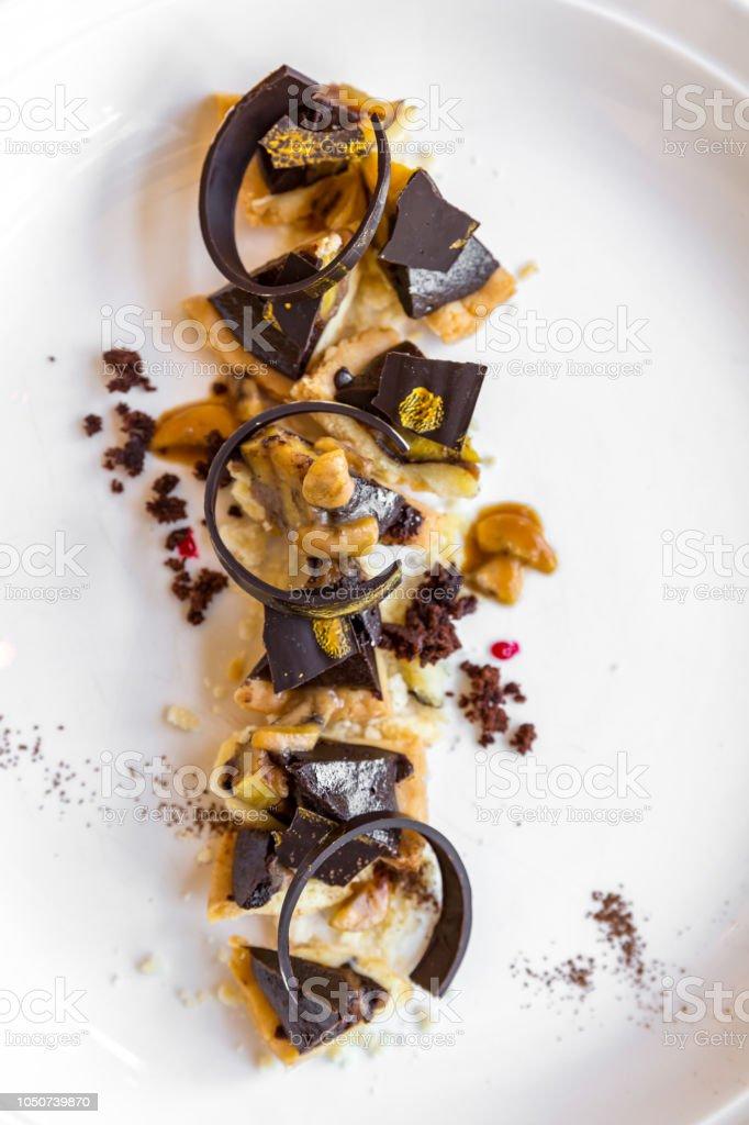 Chocolate tart - fotografia de stock