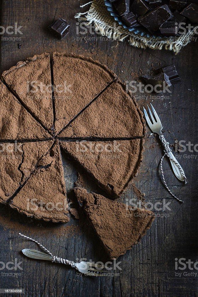 Schokoladen-Schokoladentorte – Foto