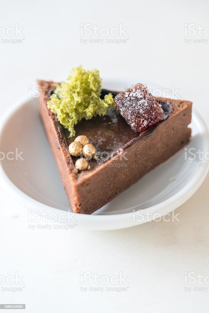 Chocolate Tart royalty-free stock photo