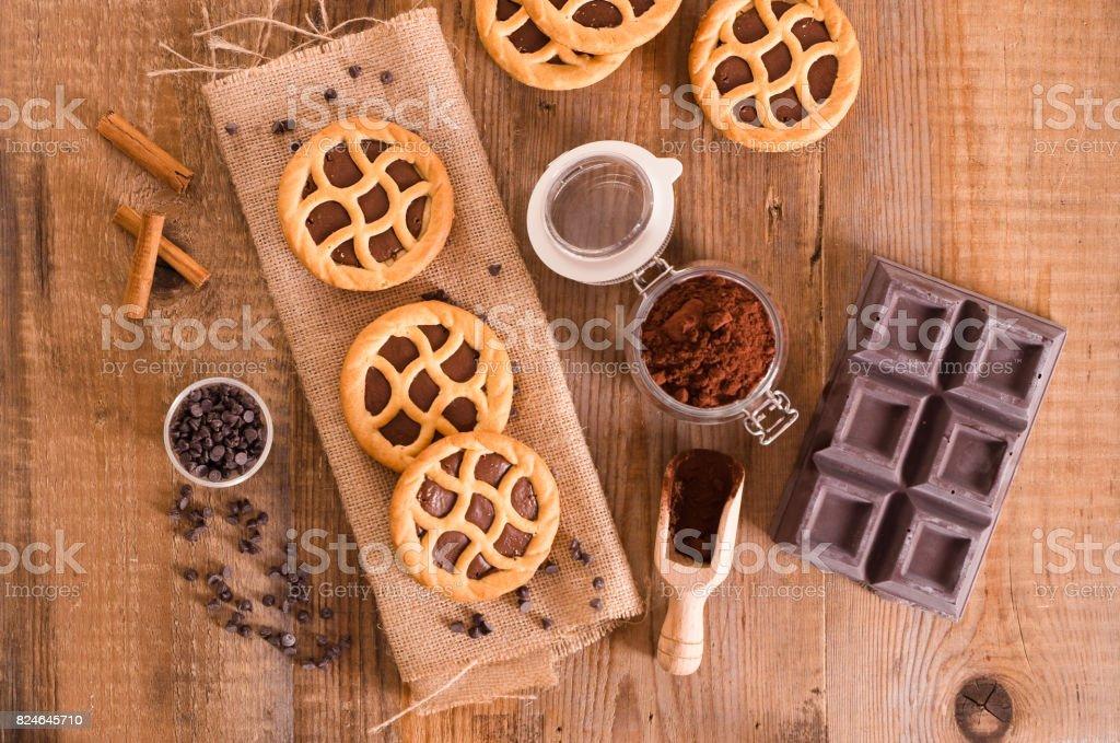 Chocolate tart. - fotografia de stock