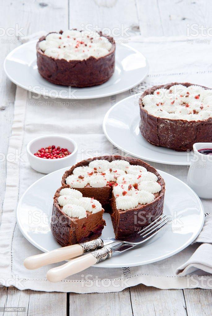 Chocolate Tartlets royalty-free stock photo