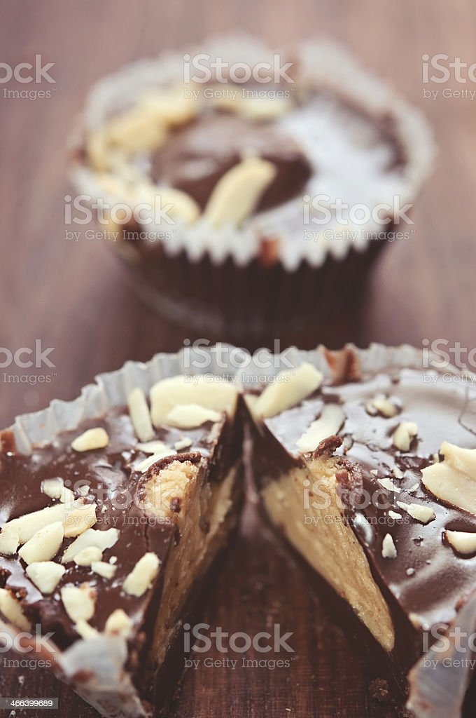 Chocolate Treats with Almonds royalty-free stock photo