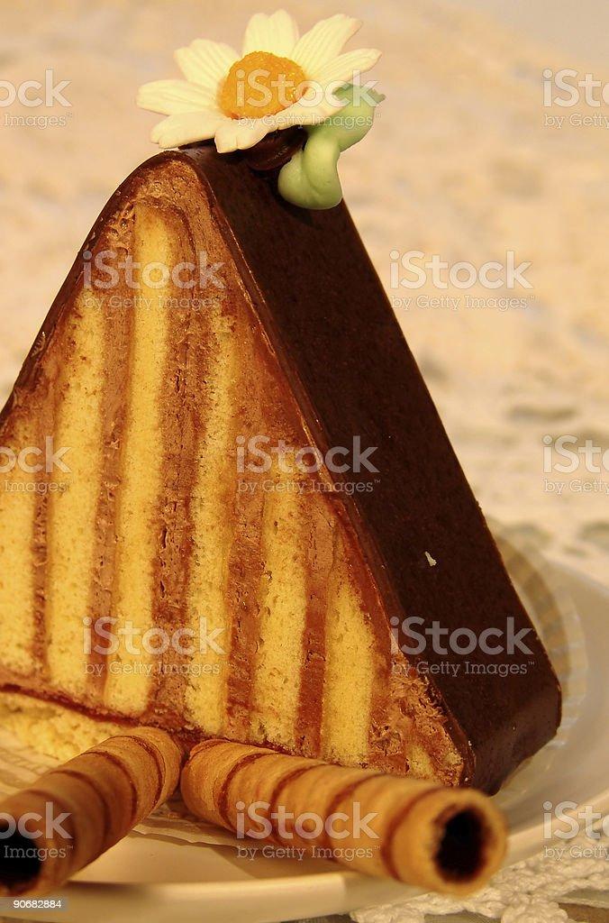 Chocolate Triangle Dessert royalty-free stock photo