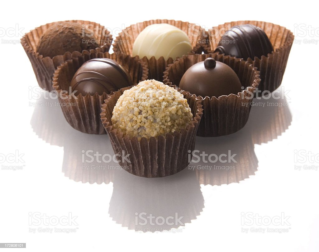 Chocolate triangle royalty-free stock photo