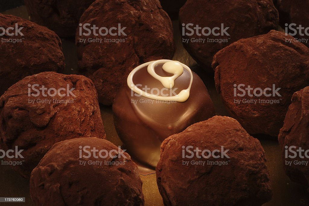 Chocolate Truffle Swirl royalty-free stock photo
