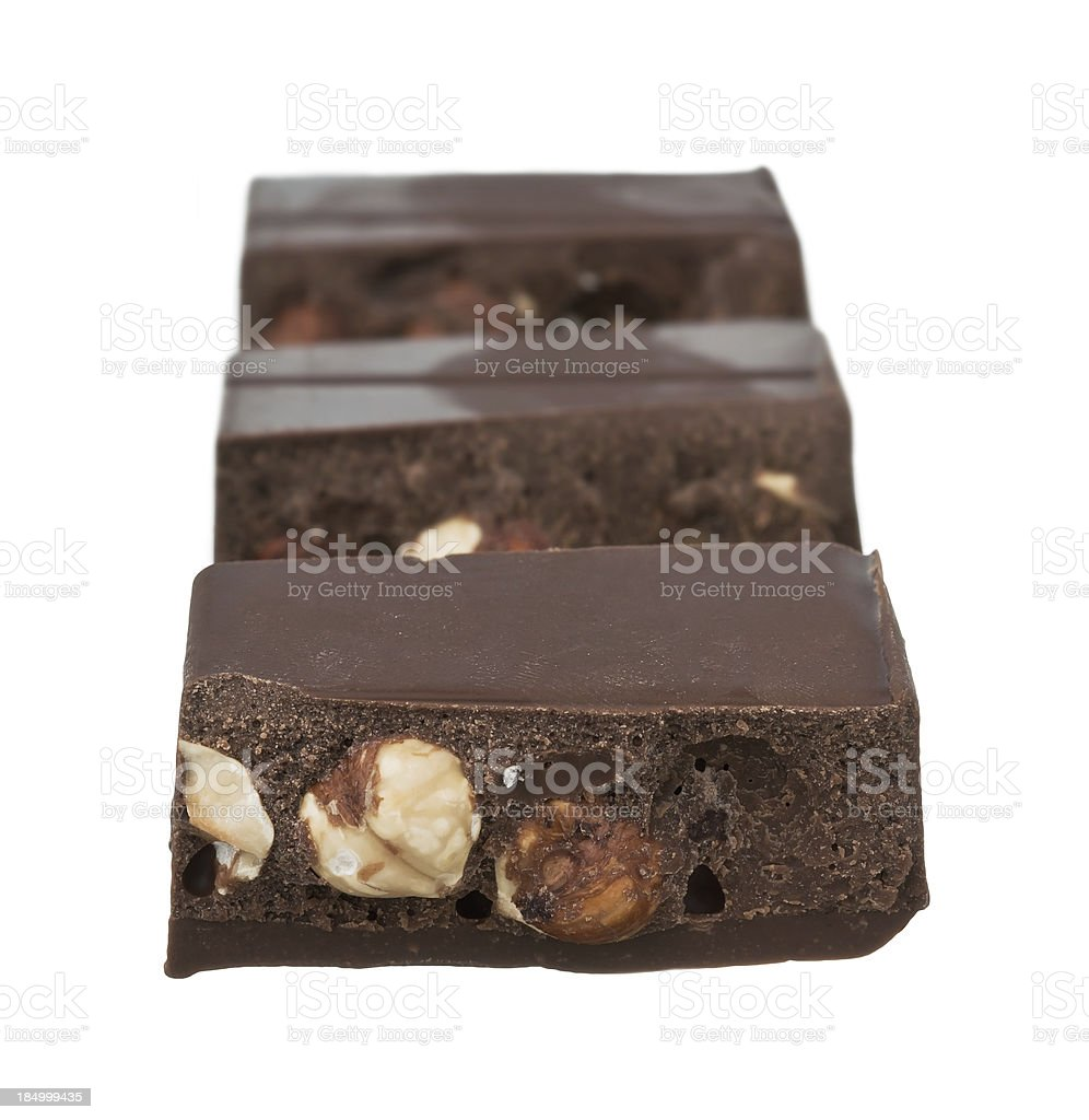 Chocolate Turron stock photo