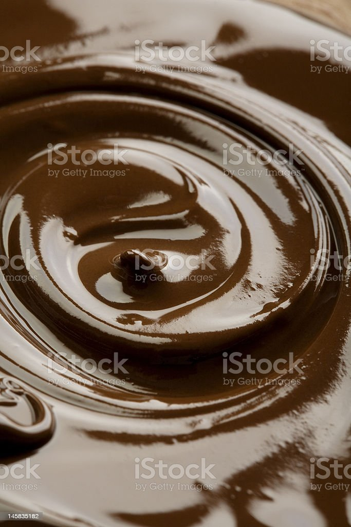 chocolate twirl royalty-free stock photo