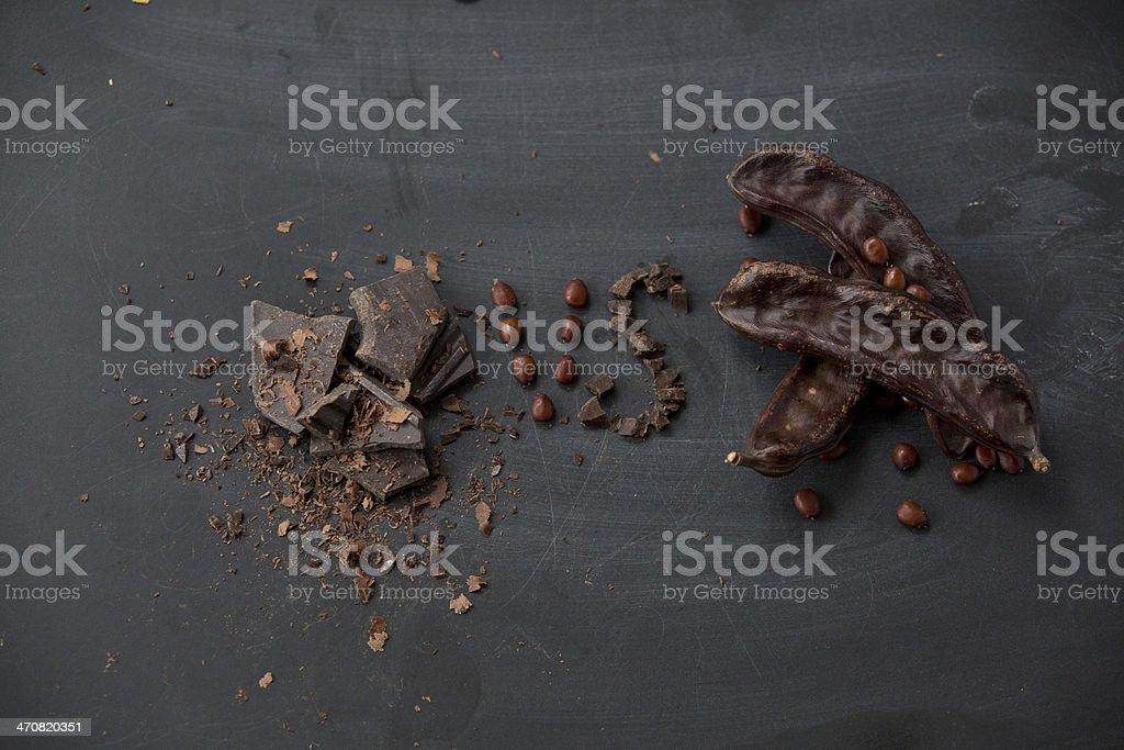 Chocolate Carob que es mejor en comparación con - foto de stock