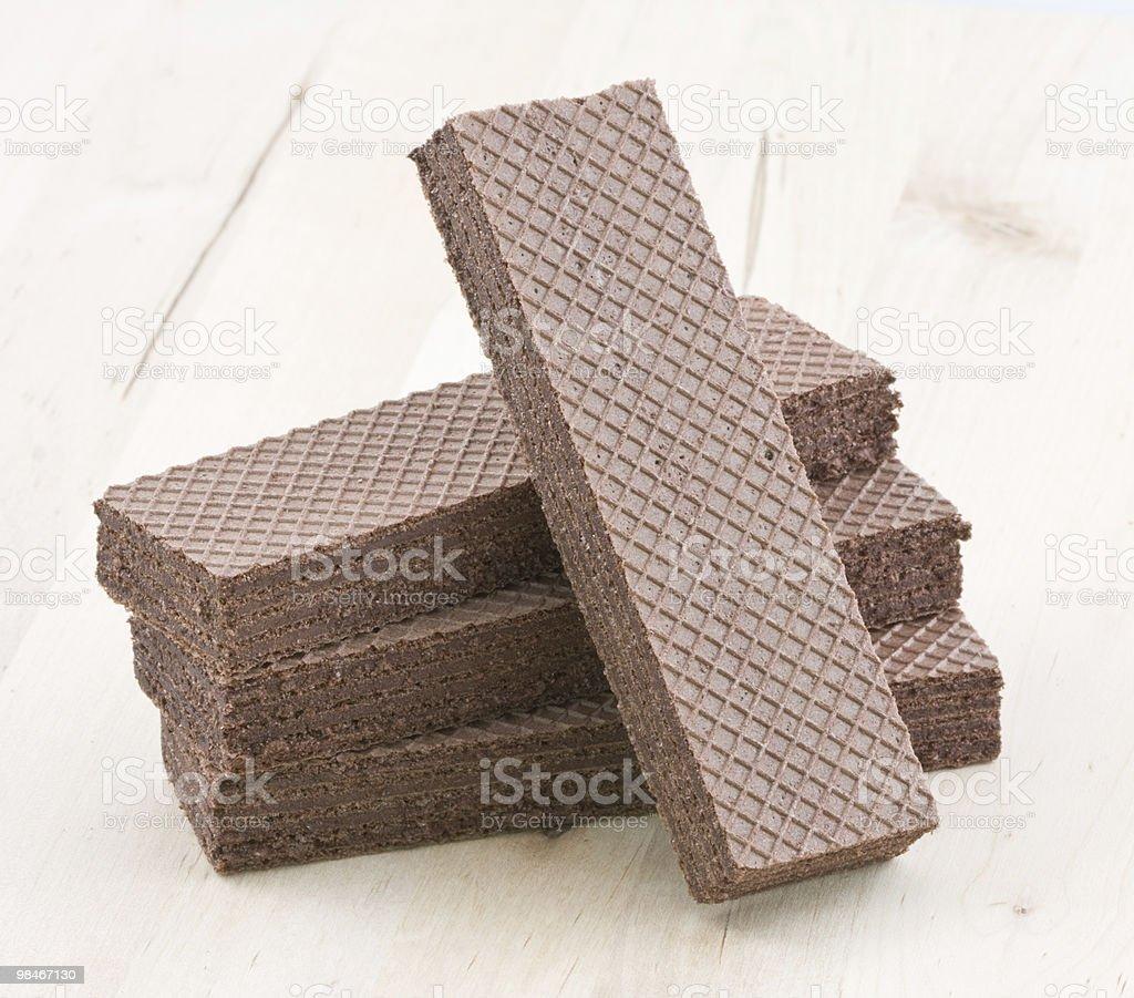 Wafer di cioccolato. foto stock royalty-free