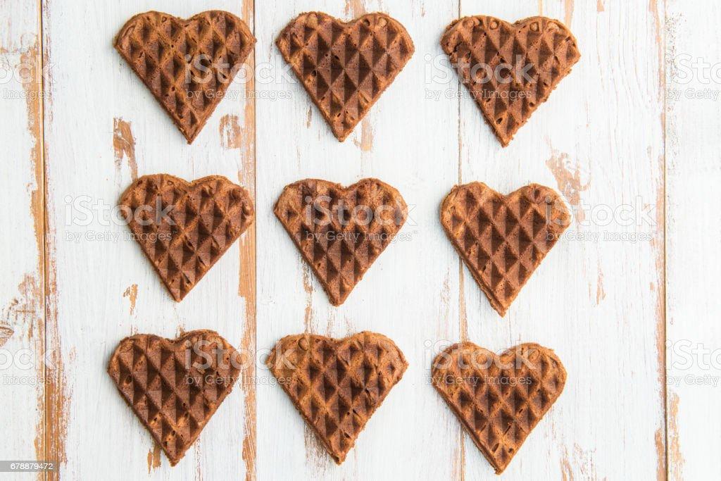 Kalp şeklinde çikolata gözleme royalty-free stock photo