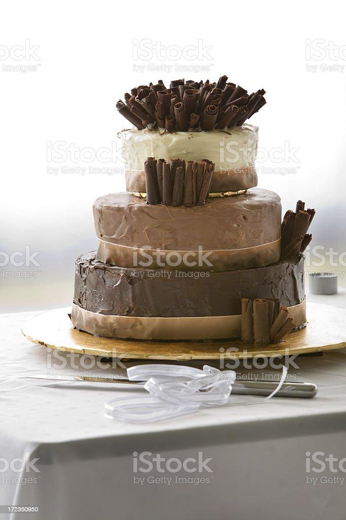 Pastel de bodas de Chocolate 3 foto de stock libre de derechos