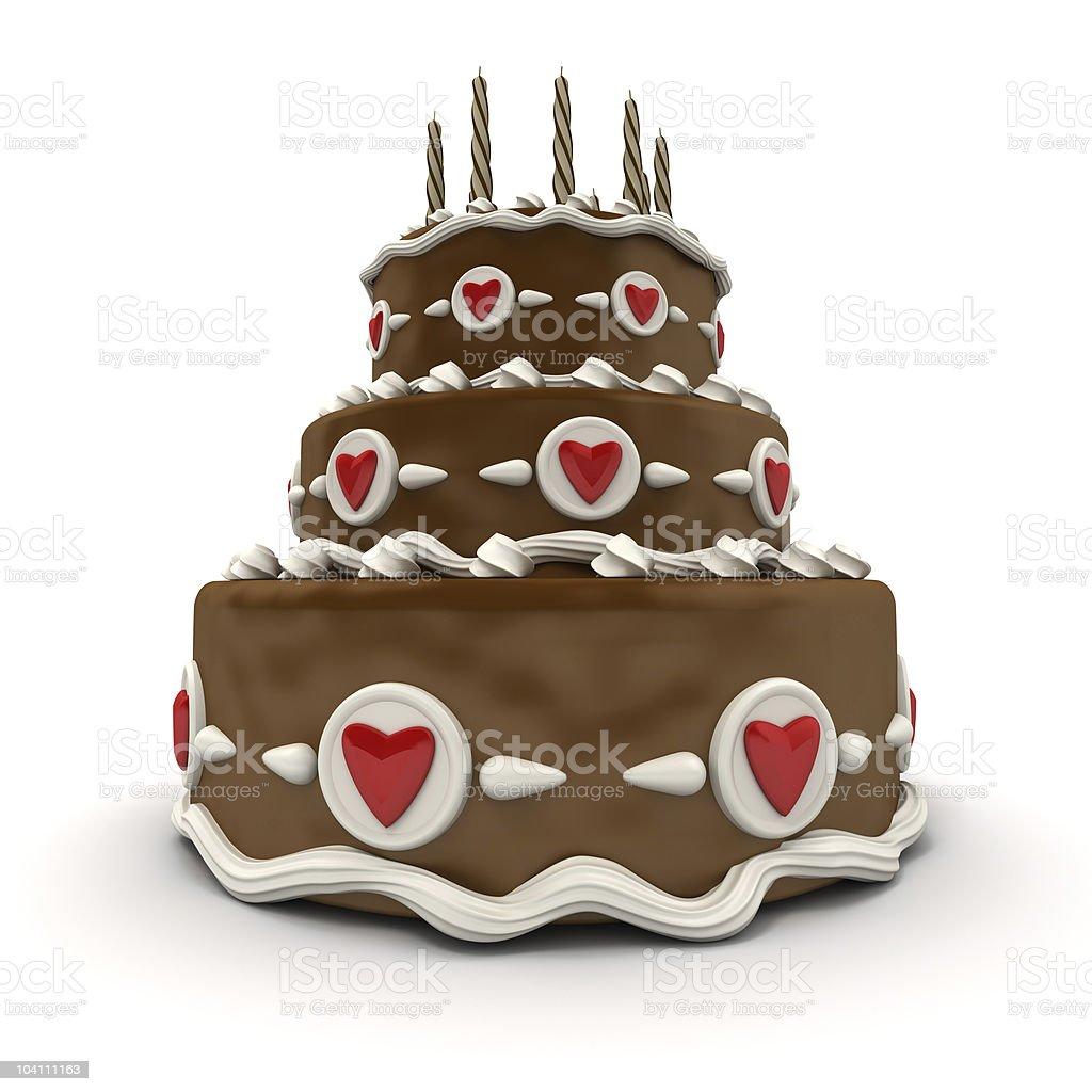 Chocolate Wedding cake stock photo