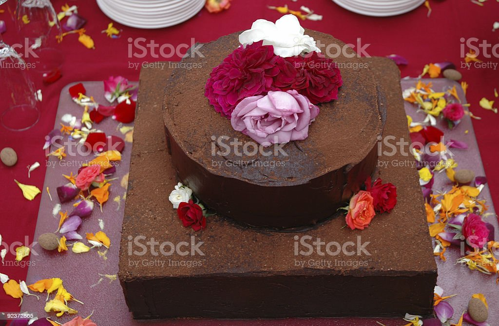 Chocolate Wedding Cake royalty-free stock photo