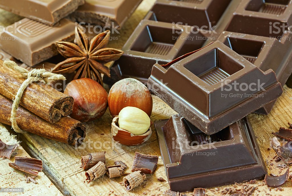 Chocolate with background stock photo